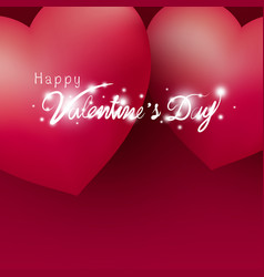 happy valentines day design hearts vector image
