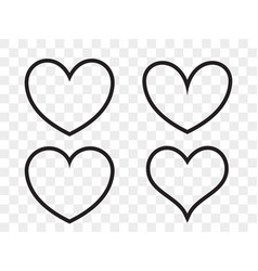 heart linear icon valentine love and wedding thin vector image