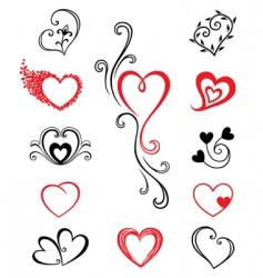 Hearts tattoo vector