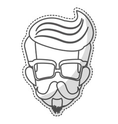Hipster man icon image vector