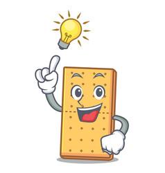 Idea graham cookies mascot cartoon vector