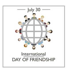 International day friendship vector