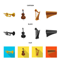 Isolated object of music and tune icon set of vector