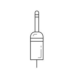 jack plug line icon vector image