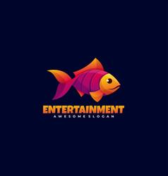 Logo entertainment gradient colorful style vector