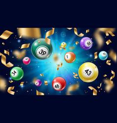 Lottery balls 3d bingo lotto or keno games vector