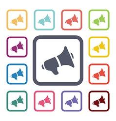loudspeaker flat icons set vector image vector image