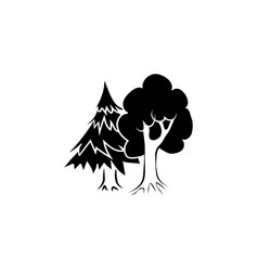 mixed forest icon black on white background vector image