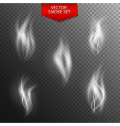 Naturalistic Smoke on Dark Transparent Background vector image