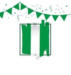 nigeria brush logo template design vector image