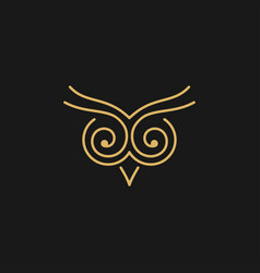 Owl symbol image vector