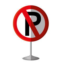 parking prohibited traffic signal vector image