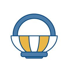 Picnic basket icon vector