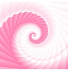 Pink twirl vector image