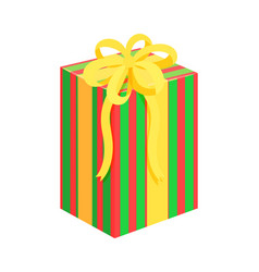 present bow santa factory vector image