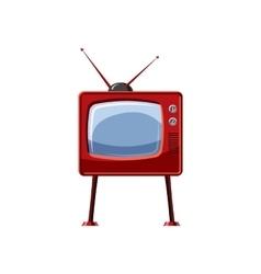 Retro TV icon cartoon style vector image