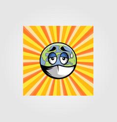 save earth retro design vector image