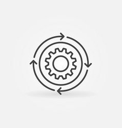 Setup or settings thin line concept icon vector