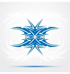 Sharp blue tribal tattoo vector