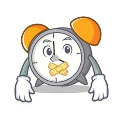 Silent alarm clock mascot cartoon vector