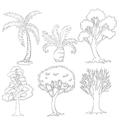Silhouettes of trees vector image