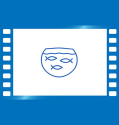 simple fish icon vector image