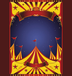 sky night circus big top vector image