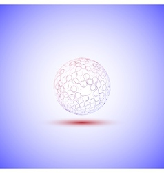 Transparent sphere on a blue background vector