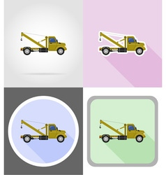 Truck flat icons 10 vector