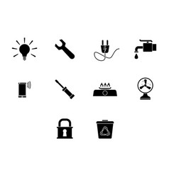 utility icon set vector image