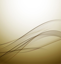 abstract elegant gold wave background vector image vector image