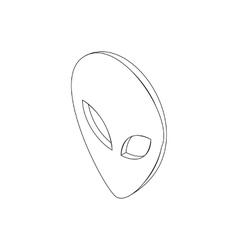 Alien head icon isometric 3d style vector image vector image
