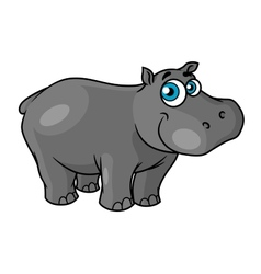 Cute cartoon baby hippo with blue eyes vector image vector image