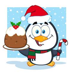 cute penguin cartoon character vector image
