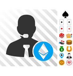 ethereum operator manager icon with bonus vector image
