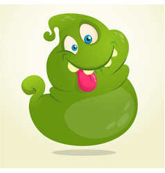 funny green cartoon ghost vector image vector image