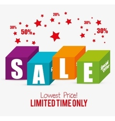 special offer sale lowest price color blocks star vector image