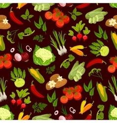Vegetables decorative seamless pattern vector
