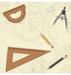 Blueprint with equipment vector image vector image