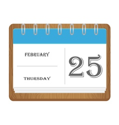 Calendar with the number vector image vector image