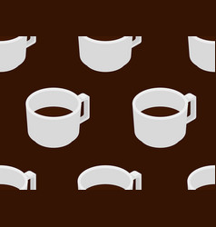 coffee cup with espresso seamless pattern vector image vector image
