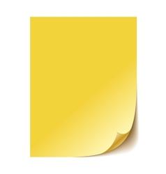 Empty yellow paper sheet EPS10 vector image