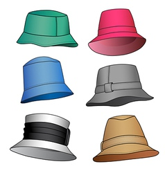fashion hats vector image vector image