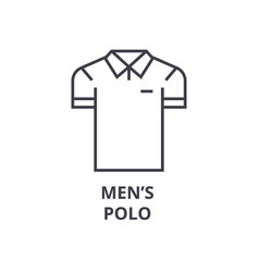 men polo line icon outline sign linear symbol vector image