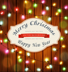 New Year Christmas pattern with garlands vector image
