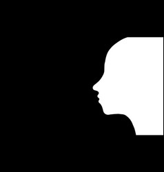 profile of a woman vector image