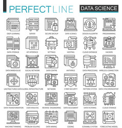 data science technology outline mini concept vector image