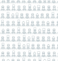 Line art face men pattern character doctor vector image vector image