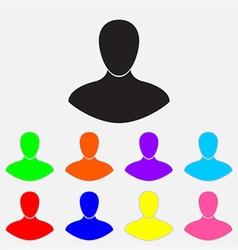 man color icon vector image vector image