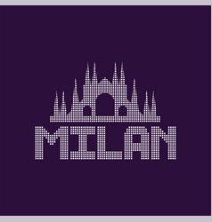 original logo of milan city with caption vector image